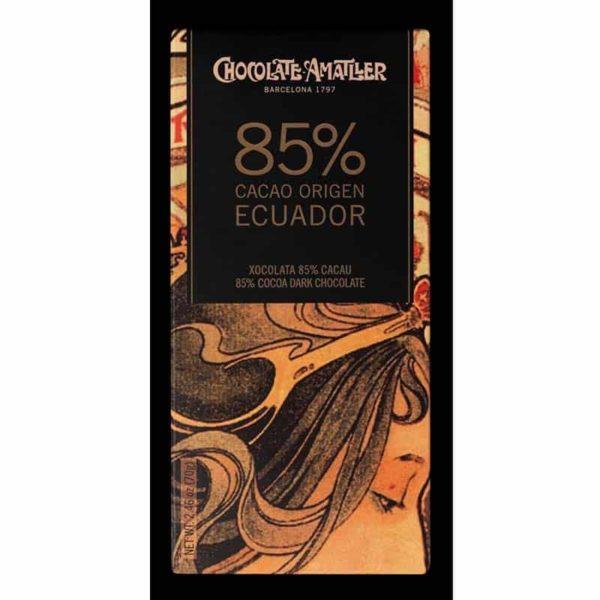 Шоколад 85% какао эквадор Amatler Испания горький купить цена