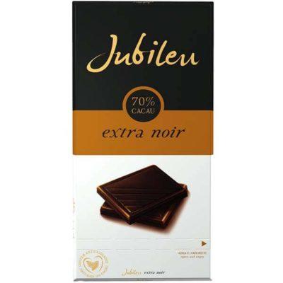 Горький черный шоколад Jubileu Extra Noir с повышенным содержанием какао 70%
