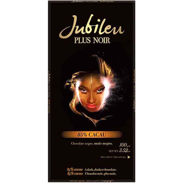 Горький черный шоколад Jubileu Plus Noir с повышенным содержанием какао 85%
