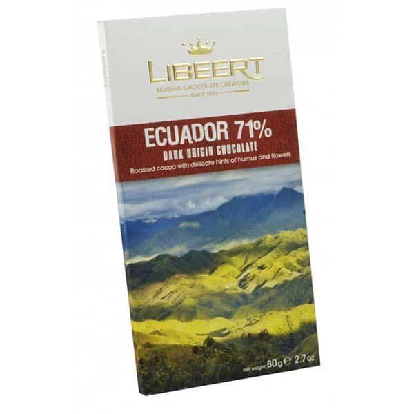 Бельгийский черный горький шоколад Libeert 71% какао с какао-бобами Эквадора