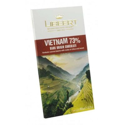 Бельгийский черный горький шоколад Libeert 73% какао с какао-бобами Вьетнама
