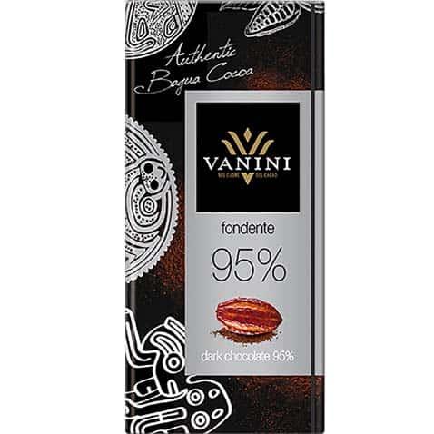 Шоколад 95% какао Vanini горький купить цена Украине доставка лицевая сторона