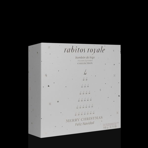 Конфеты Инжир в шоколаде Rabitos Royale 3U 145г Рождественская упаковка купить цена Украина конфеты