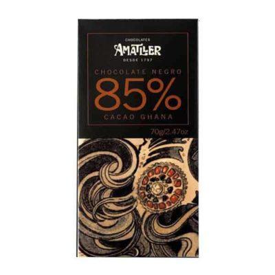 Купить Черный горький шоколад Amatller Ecuador / Аматллер Эквадор 70% какао Испания, 70 г