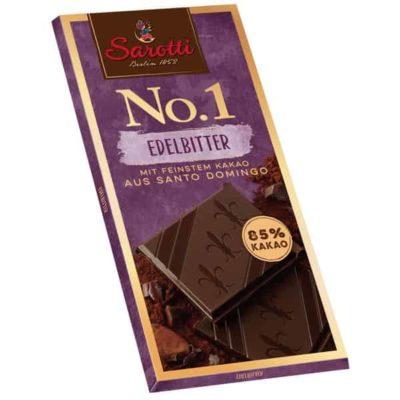 Купить горький темный шоколад Sarotti какао 85% цена 100г Украина