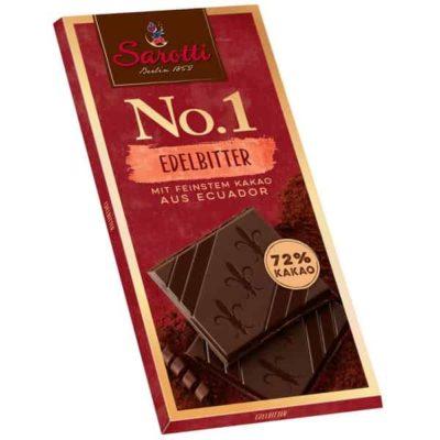 Купить горький темный шоколад Sarotti какао 72% цена 100г Украина