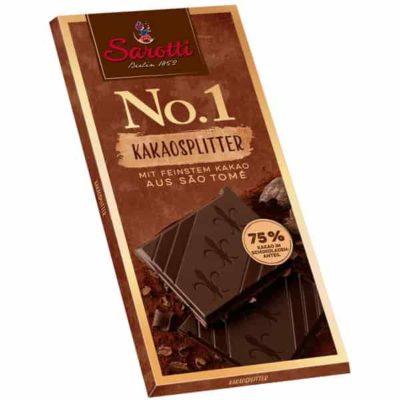 Купить горький темный шоколад Sarotti 75% с какао-бобами цена 100г