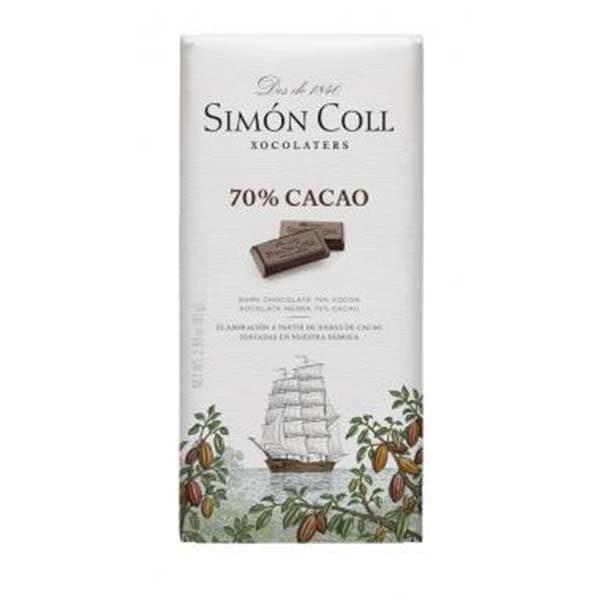 Купить горький темный шоколад Simon Coll 70% Испания цена, 85 г