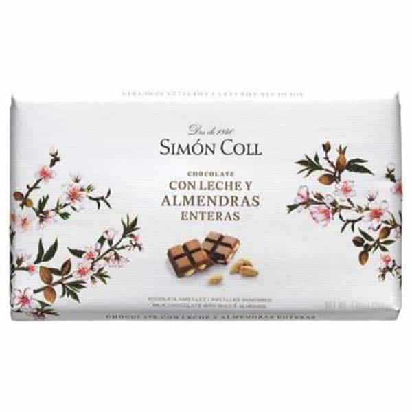 Купить молочный шоколад Simon Coll с миндалем 32, цена, 200 г
