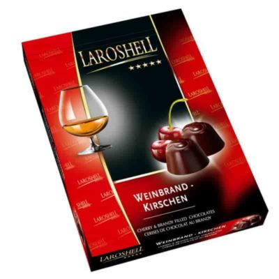 Конфеты шоколадные конфеты пралине Weinbrand-Kirschen Laroshell 150 г