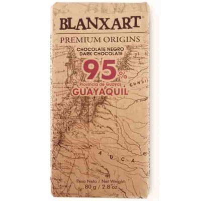 Купить Горький темный шоколад 95% какао Blanxart, Эквадор, 80 г