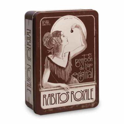Купить конфеты Инжир в шоколаде Rabitos Royale 14 шт металл бокс