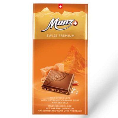 Шоколад молочный соленая карамель Munz Swiss Premium Caramel & Salt