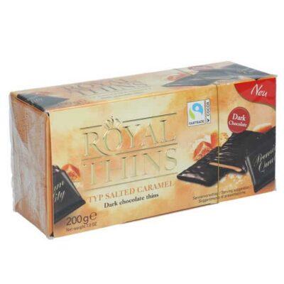Купить Конфеты шоколадные с мятной начинкой Royal Thins соленая карамель 200 г