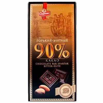 Купить Горький темный шоколад 90% какао Спартак Беларусь, 90 г