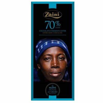 Купить Горький темный шоколад 70% какао Zaini Италия, 75 г