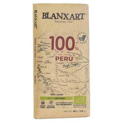Купить Горький черный шоколад 100% какао Blanxart 80 г Organic